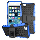 iPhone 5 / 5S / SE Case, Phone 5S Cover, [Survivor] Military-Duty Case - Shockproof Impact Resistant Hybrid Heavy Duty [armor case] Dual Layer Armor Hard Plastic and Soft TPU With a Kickstand bumper Protective Cover Case for Apple iPhone 5/5S/SE [SHOCKPROOF] Cover, (BLUE)