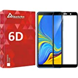 VALUEACTIVE Accessories For All Tempered Glass for Samsung Galaxy A7 (Black) Edge to Edge Full Screen Coveragewith easy installation kit