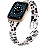 VASG Leather Bands Compatible with Apple Watch Bands 42mm 44mm, Slim Genuine Leather Band Replacement Strap Women Wristband A