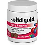 Solid Gold Dog & Cat Supplements for Urinary Tract Health; Berry Balance Chews and Powder with Antioxidant-Rich Cranberries