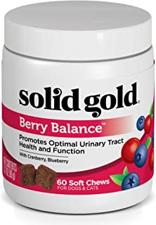 product image for Solid Gold Dog & Cat Supplements for Urinary Tract Health and Testing; Berry Balance Chews and Powder with Antioxidant-rich cranberries plus pH Strips