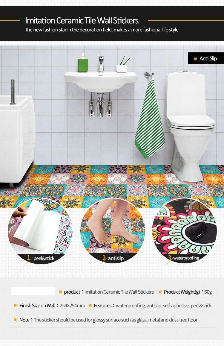 Tile Stickers Roommates Bedroom & Bathroom & Kitchen Backsplash ...