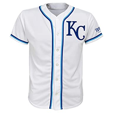 89ef1c1db Outerstuff Kansas City Royals White Youth Team Apparel Home Jersey (Small  6 7)