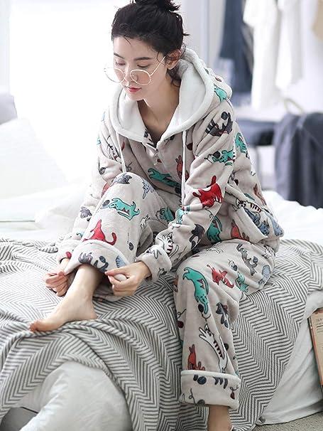 Bayrick Pijamas Mujer Invierno Polar,Conjunto de Pijama de ...