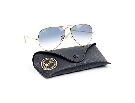 3815cefee9 Ray-Ban RB3025 001 3F Unisex Aviator Sunglasses Gradient (Gold Frame Blue
