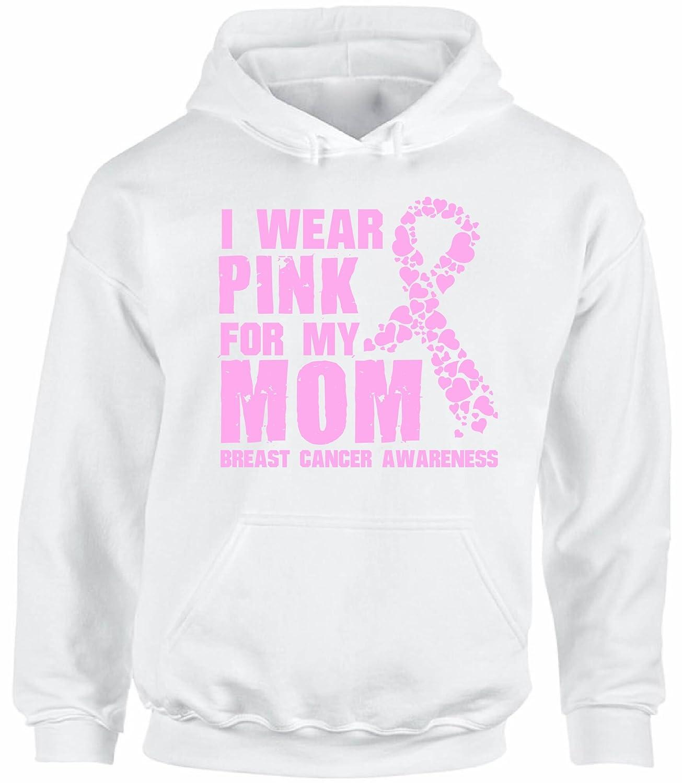 Awkward Styles Unisex I Wear Pink for My Mom Hoodie Hooded Sweatshirts Breast Cancer Awareness