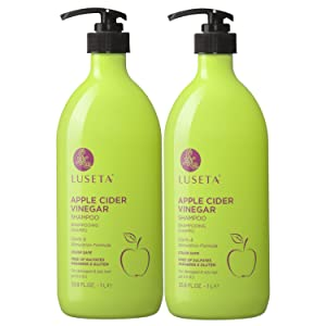 Luseta Apple Cider Vinegar Shampoo and Conditioner Set for Damaged and Oily Hair, 2x33.8oz