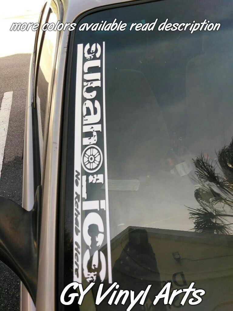 Supersticki Subaru Windshield Side Window Banner Aufkleber Decal Hintergrund Maße In Inch Car Sticker Vinyl Graphics Ej20 Wrx Sti Brz Turbo Impreza Auto
