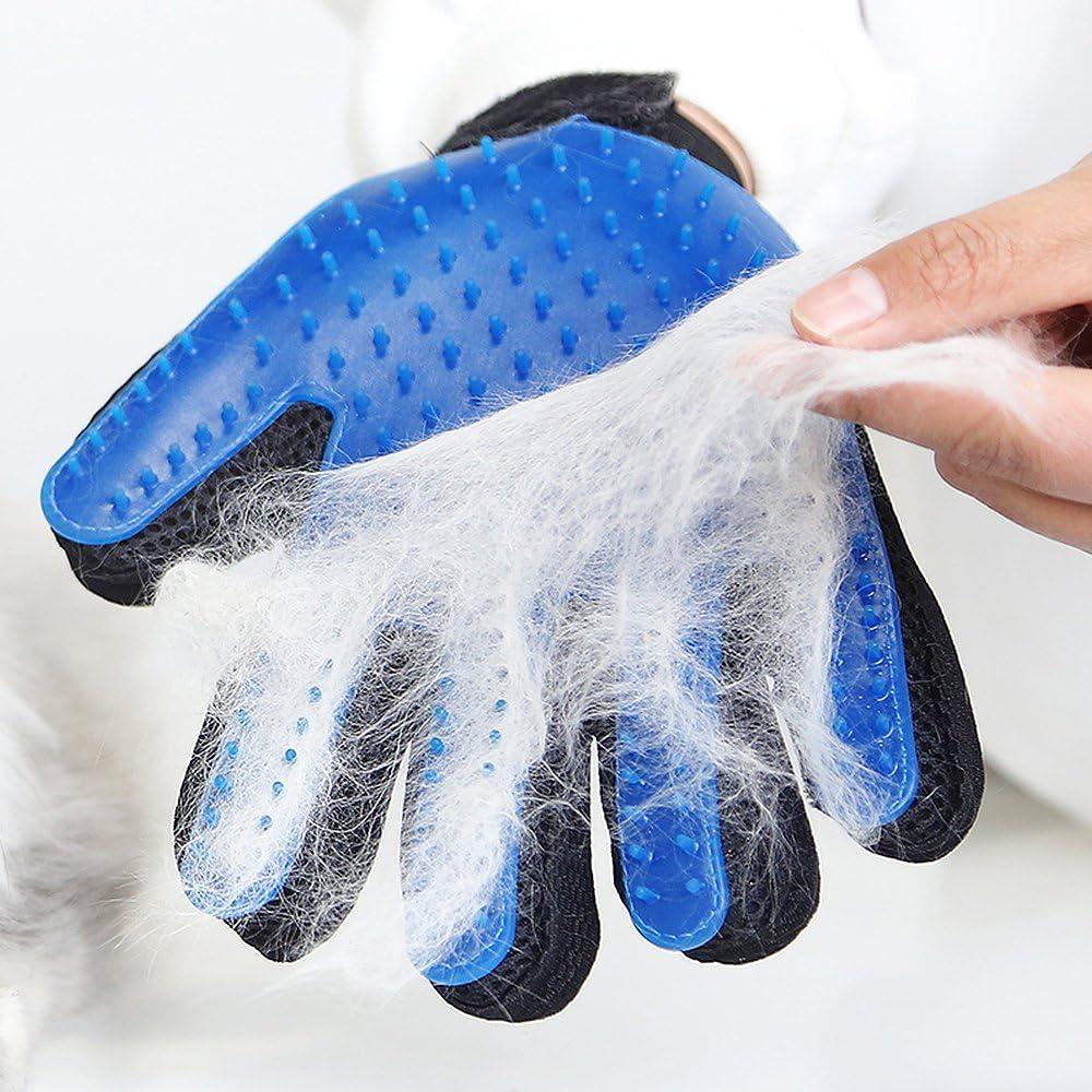 VIZPET Pet Grooming Glove - Dog Brush Deshedding Glove Pet Hair Remover Pet Mitt Massage Tool for Dogs,Cats,Small Animals