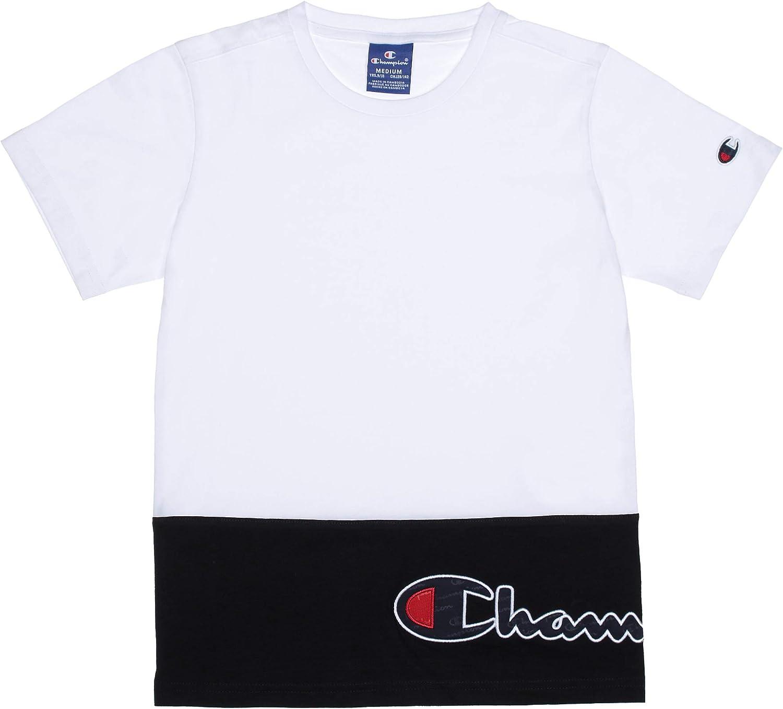 Champion Tee Shirt Gar/çon 305259 Ww001 WHT
