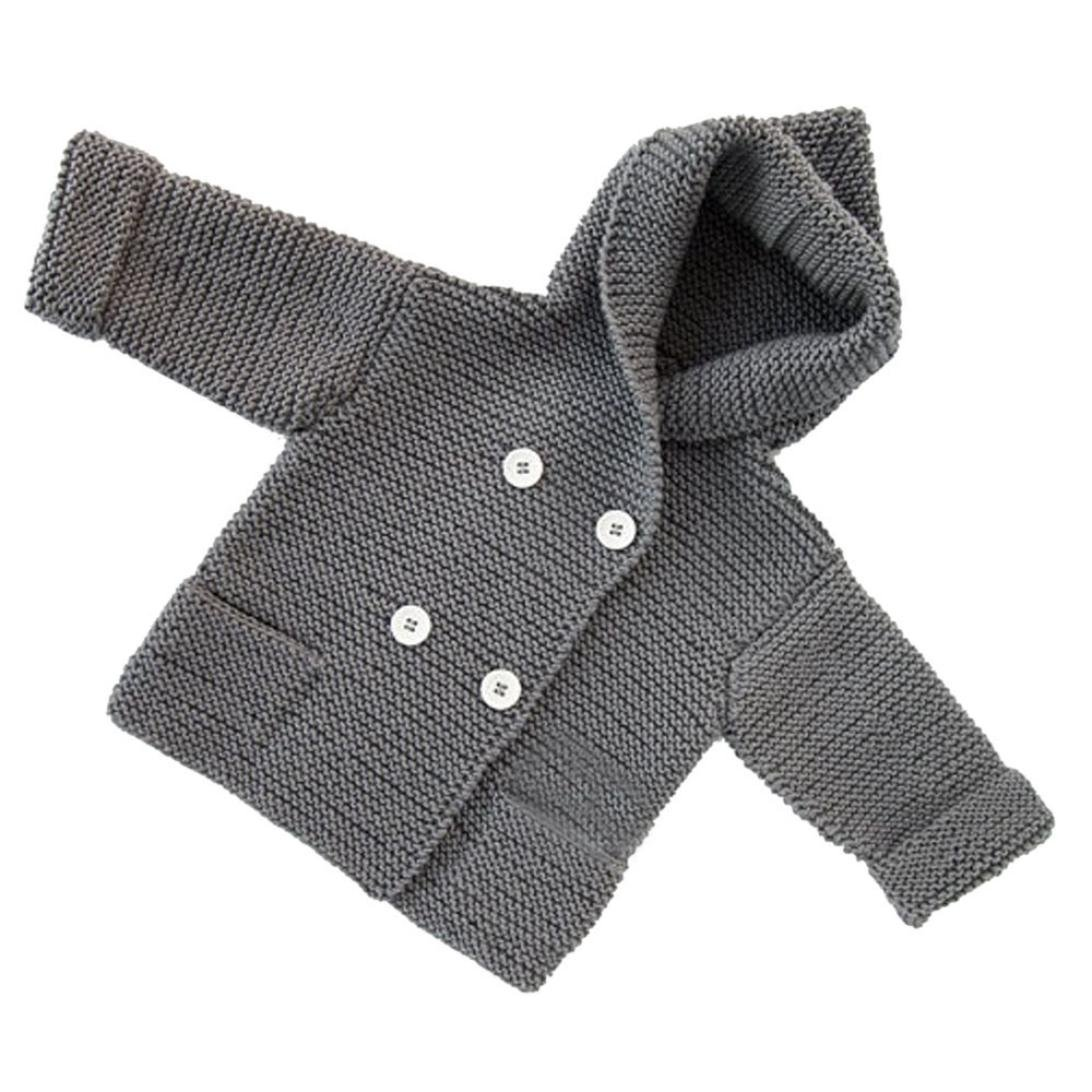 Perman Baby Boys Girls Hooded Cardigans Button Knitted Sweaters PM-919