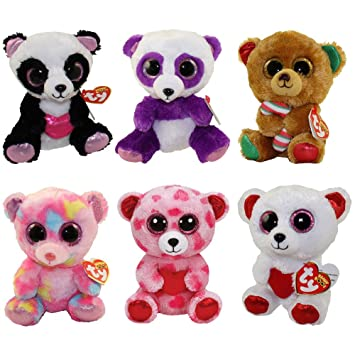 Amazon.com  TY Beanie Boos - SET OF 6 BEARS (Cutie Pie 08355be89206