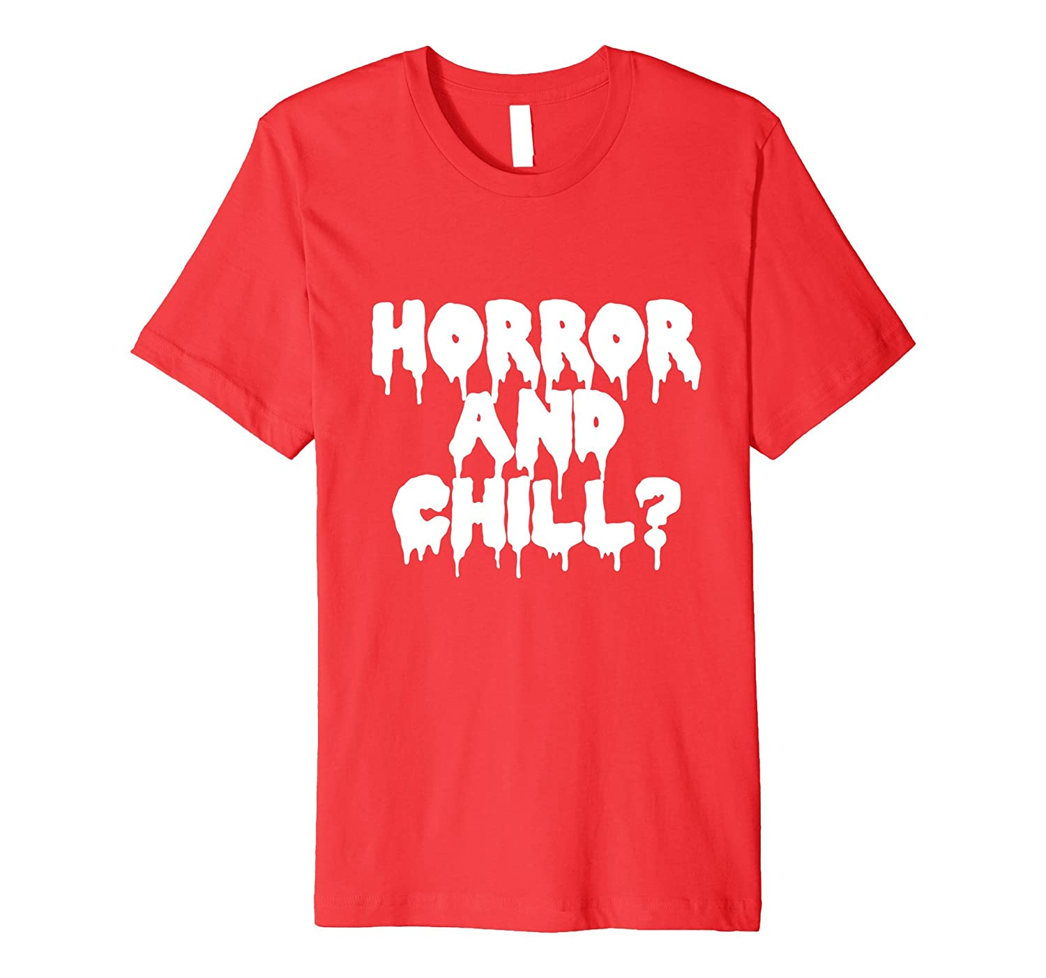 Horror Movies and Chill? Creepy Gothic T-Shirt-TJ