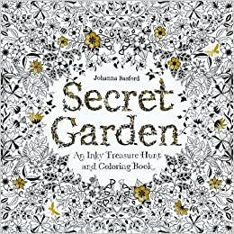 Amazon Com Secret Garden An Inky Treasure Hunt And Coloring Book