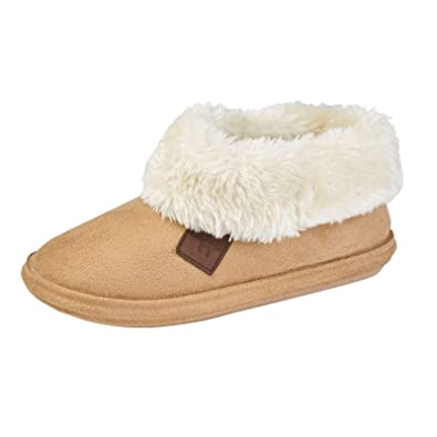 Ladies Slippers Womens Ankle Winter Warm Fur Boots Booties Size UK 3 4 5 6  7 8  Amazon.co.uk  Shoes   Bags ba87e175b