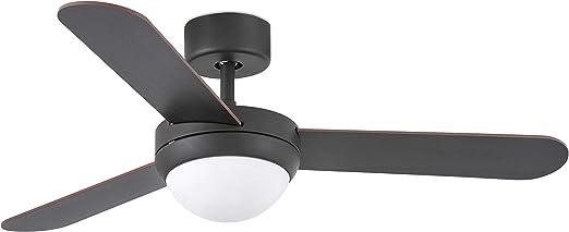 Faro Barcelona 33602 - FEROE Ventilador de techo con luz, 40W ...