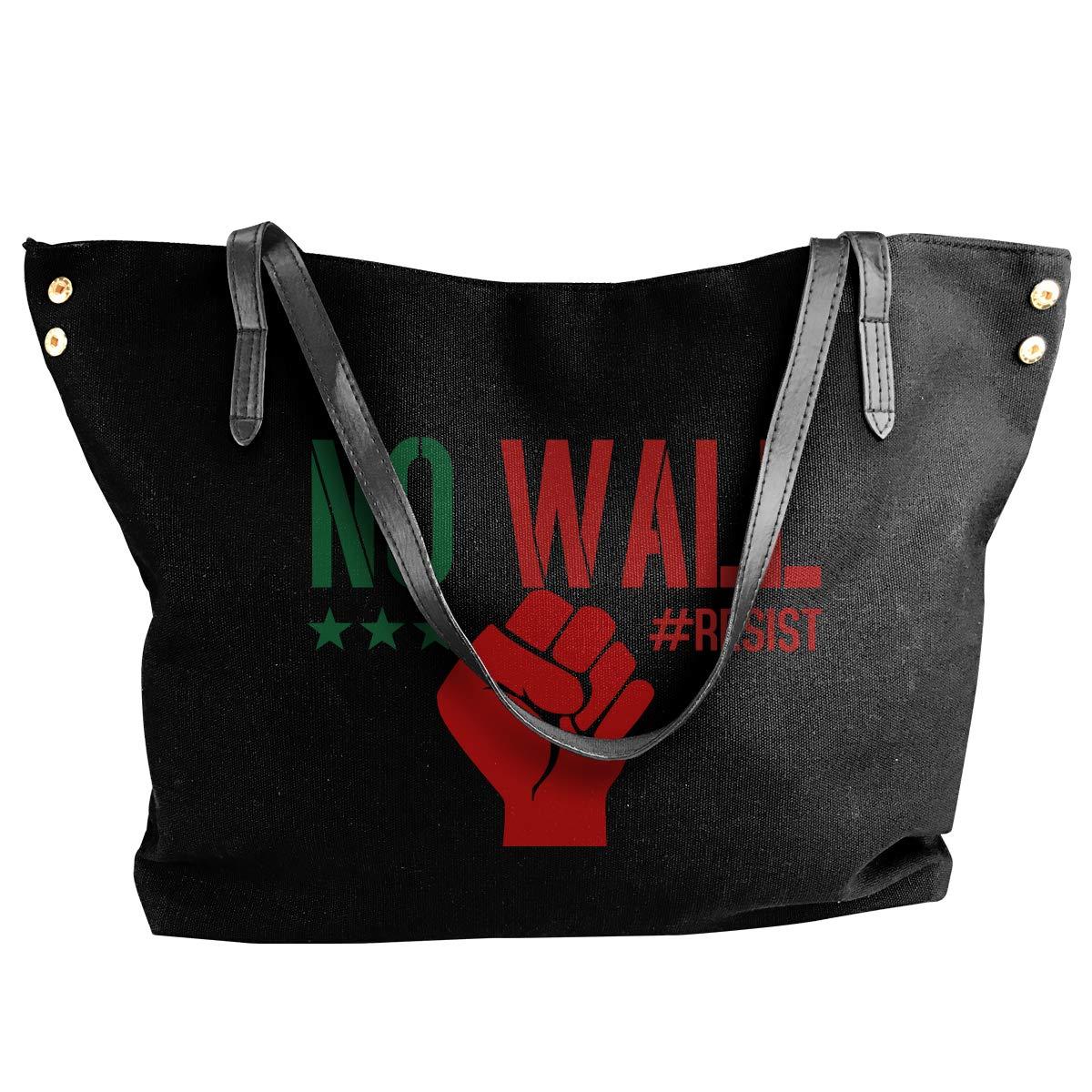 Womens Canvas Large Tote Shoulder Handbag No Wall Handbags