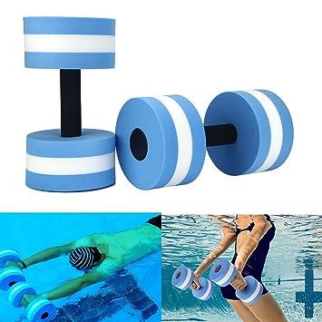 Mancuernas de espuma de Lembeauty, ideales para practicar yoga, culturismo, elevaciones de brazo, ejercicios en piscina: Amazon.es: Deportes y aire libre