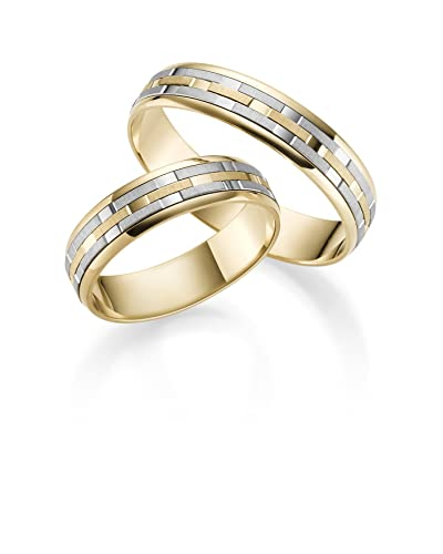 d03686b0a42e Par de alianzas de oro 333 personalizable  Amazon.es  Joyería