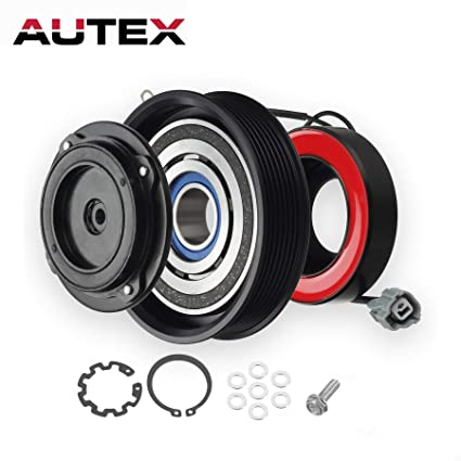 AUTEX AC A/C Compressor Clutch Coil Assembly Kit 38810RAAA01 4710537  10000628 Replacement for Honda Accord 2003 2004 2005 2006 2007 2 4L