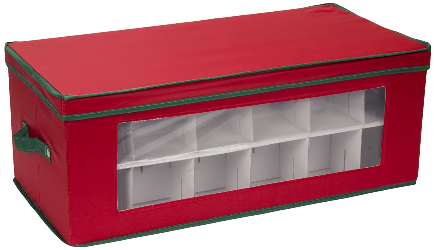 Amazon.com Household Essentials 551RED Large Christmas Tree Ornament Storage Box -Stores Up to 36 Xmas Ornaments - Red Bin with Green Trim Home u0026 Kitchen  sc 1 st  Amazon.com & Amazon.com: Household Essentials 551RED Large Christmas Tree ...