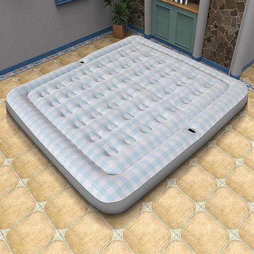 CUI XIA UK Air bed Estilo mediterráneo Cama Inflable Individual Doble colchón de Aire del hogar Cama Plegable Cama de Aire al Aire Libre con Bomba de Aire ...