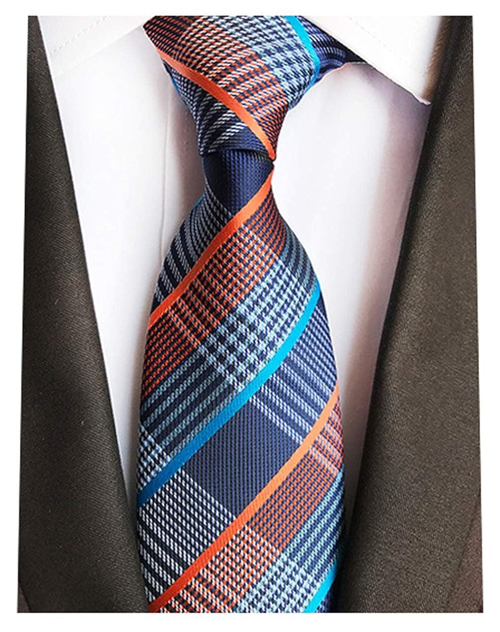 Striped Silk Woven Classic Check Mans Business Tie Necktie Korea Style Ties