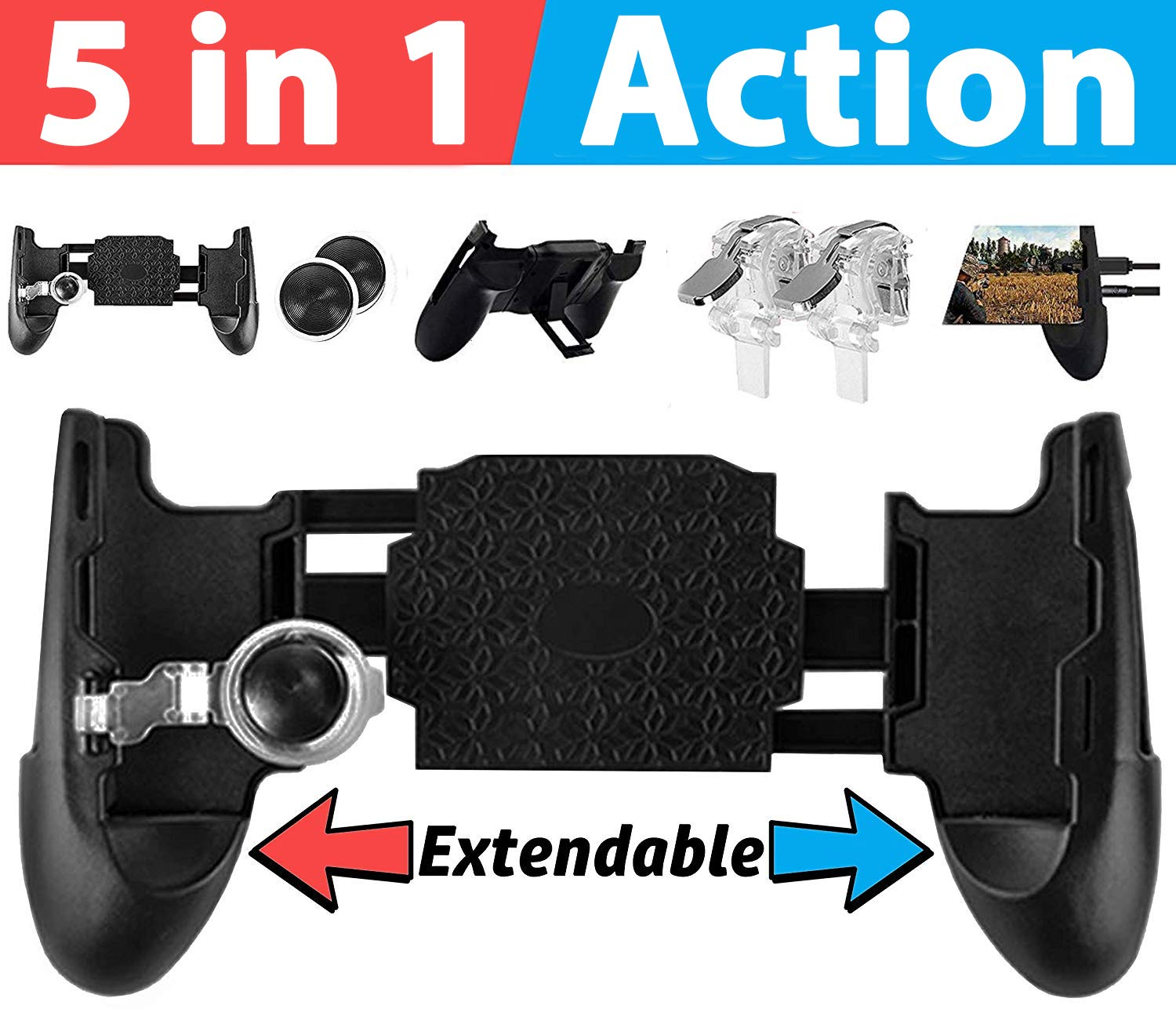 PUBG Mobile Game Controller and Gamepad Fortnite/Knives Out/Rules of  Survival for iPhone iOS/Android【Upgraded Version】GAMR+ Sensitive Shoot and  Aim