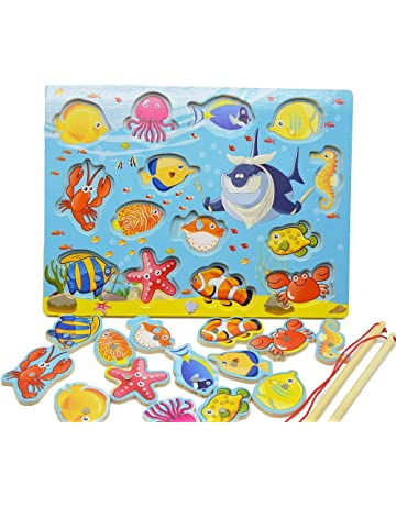 Wooden Digital Magnet Fishing Toys Sets 3d Catch The Insect Magnetic Fish Game Montessori Educational Table Games Fishing Toys Toys & Hobbies