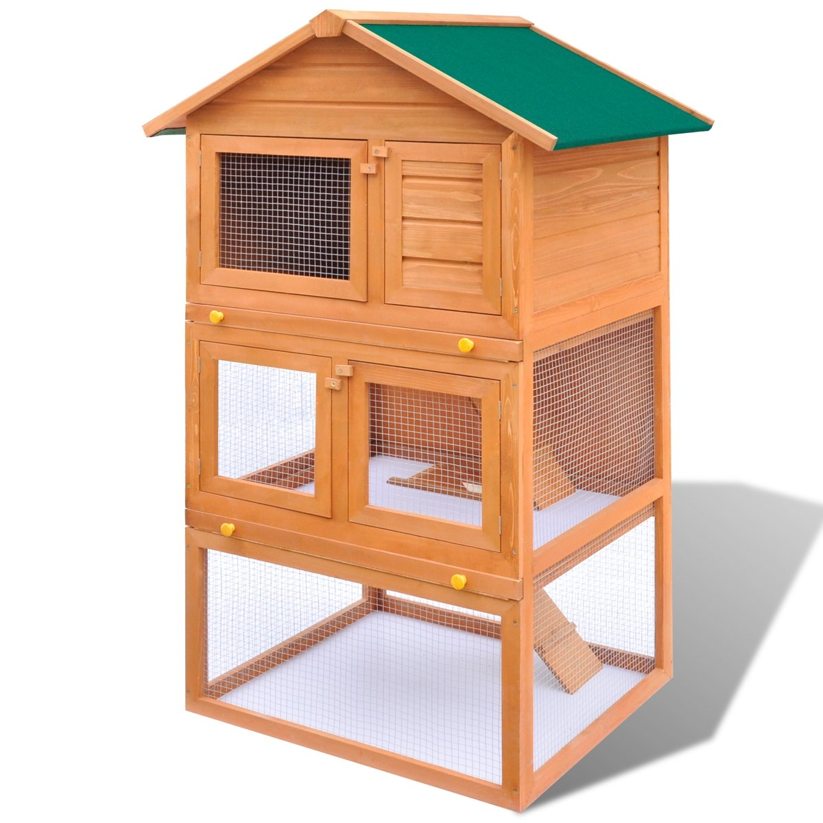 Kaninchenstall Kleintierhaus Hasenstall Holz 3 Schichten