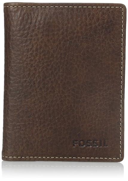 e8e33cd4ac9f61 Fossil Men's Lincoln Card Case Bifold, Brown, One Size: Amazon.ca ...