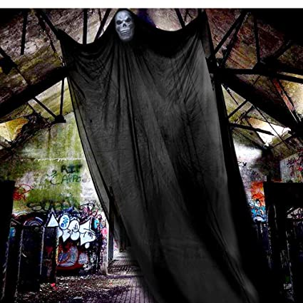 halloween props halloween ghost decorations black creepy cloth hanging scary ghost prop halloween hanging decorations