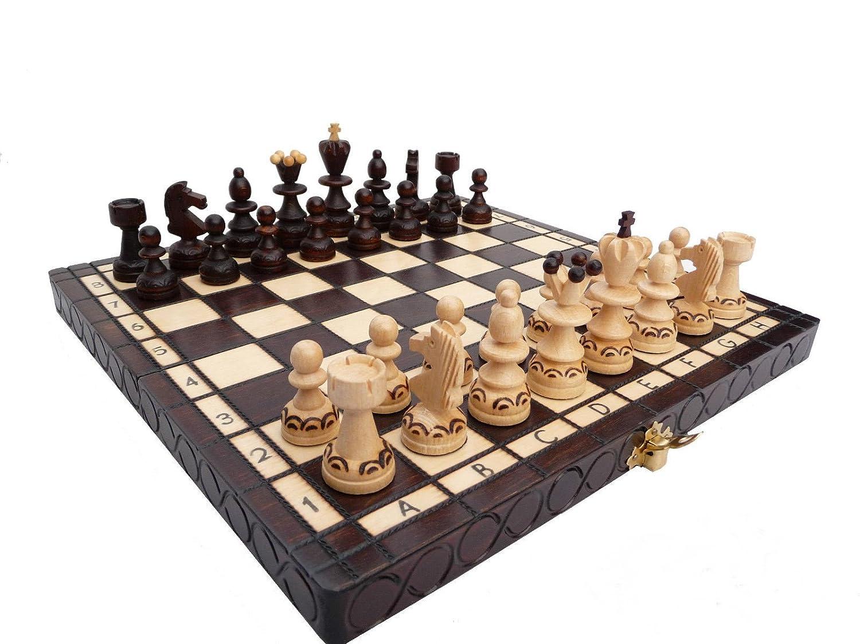 Schöne Perle 30cm / 12in Kleine Holz-Schach-Spiel, Handcrafted klassische Spiel
