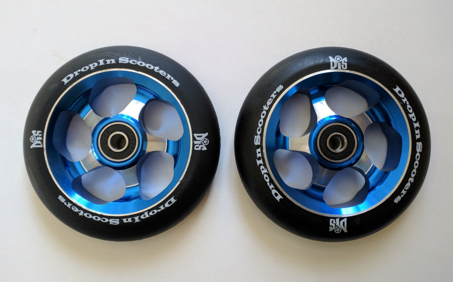 DIS 110mm Metal core Park Wheels 5-Spoke - Blue