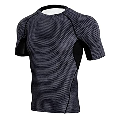 cfb9d30dd6835 Fashion Personality Man Workout Leggings Fitness Sports Gym Running Yoga  Athletic Slim Shirt Top Blouse Casual Plus Size Autumn Winter Summer Dark  Gray ...