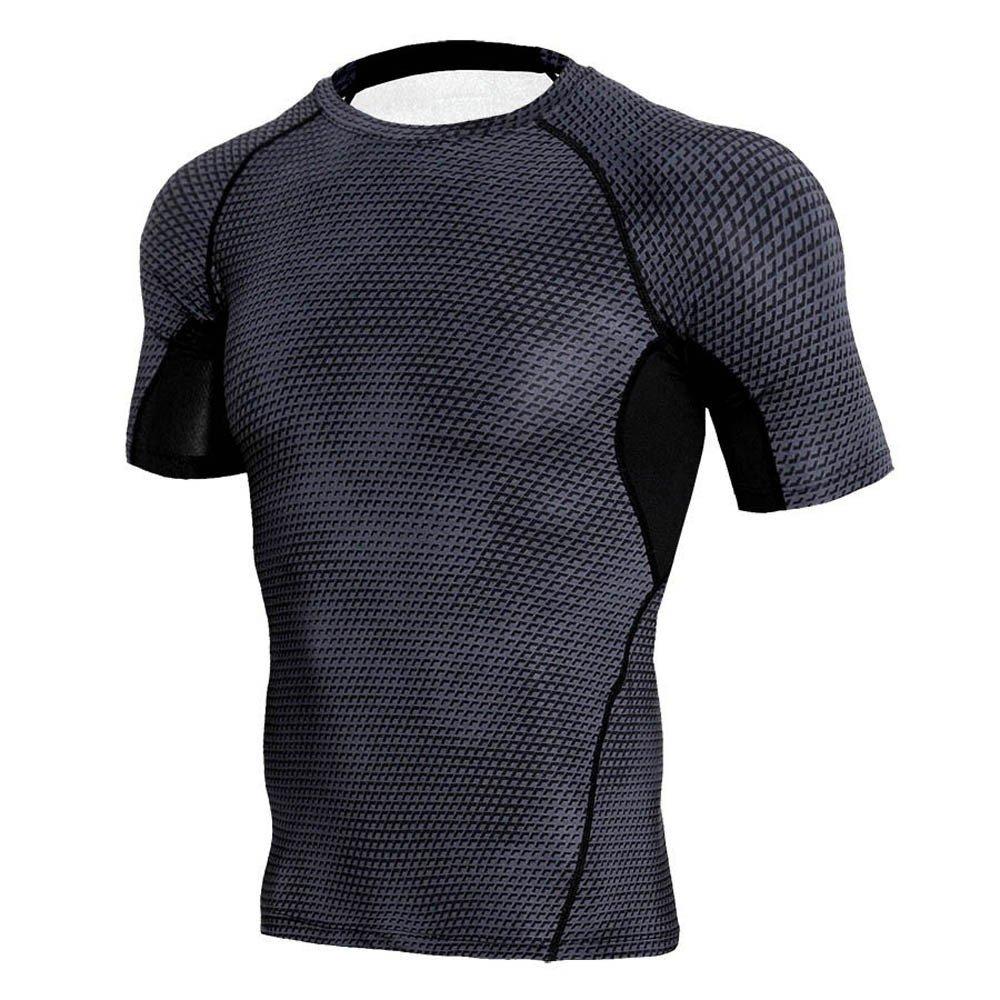 T-shirt for Men,Mlide Man Workout Leggings Fitness Sports Gym Running Yoga Athletic Shirt Top Blouse