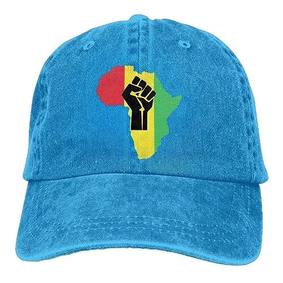 Elsaone Gorras de béisbol Frescas Raíces africanas Negro Power ...