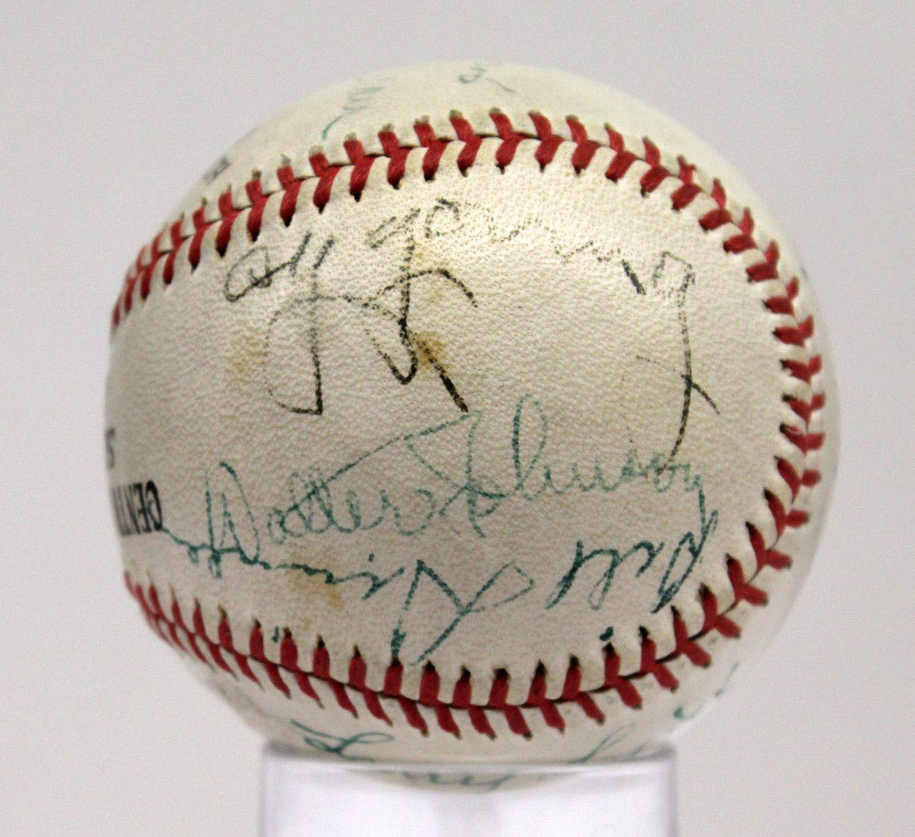 Circa 1939 Hall Of Famers Autographed Signed Basebal With Young Johnson Lajoie Mack PSA/DNA Authentic
