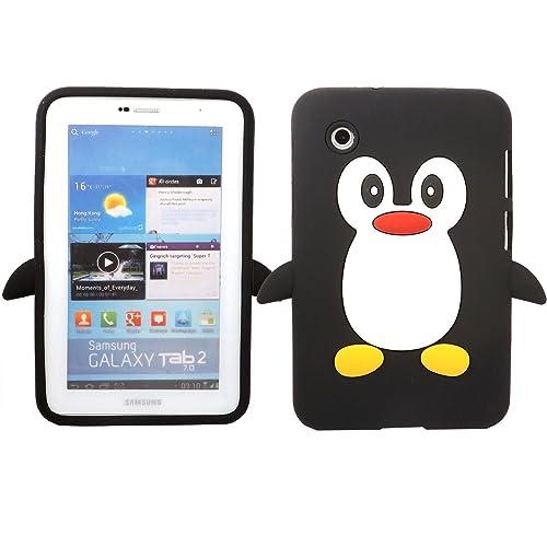SKS Distribution® Noir Mignon Pingouin Manchot Etui Coque Housse Pour Samsung Galaxy Tab 2 7.0 P3100