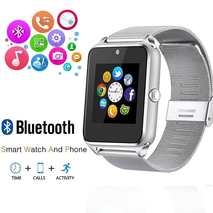 Reloj de pulsera inteligente de Ishenzu, bluetooth, teléfono con ...