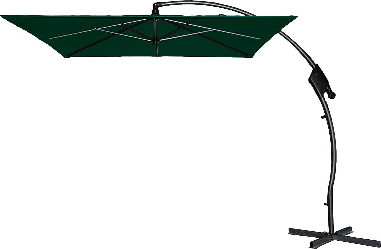 Hartman Ampelschirm 250x250 cm Tenero dunkelgrün Sonnenschirm Sonnenschutz incl. Schirmfuß
