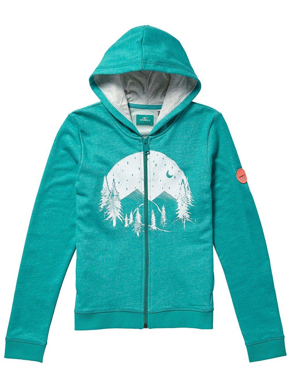 Turquoise 176 cm O'Neill Kinder Kapuzenjacke Fantastic Zip sweat à capuche Girls Sweat à Capuche Fille