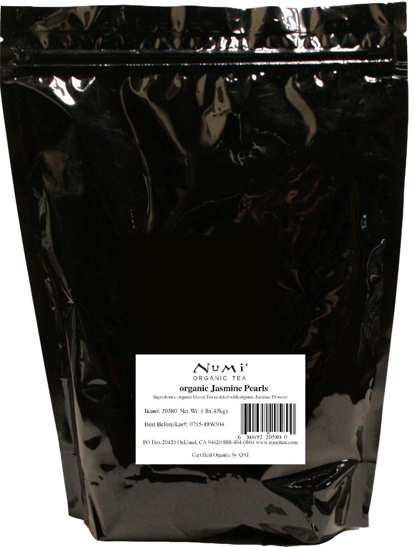 Numi Organic Tea Jasmine Pearls, 16 Ounce Pouch, Loose Leaf Green Tea (Packaging May Vary) by Numi Organic Tea (Image #3)