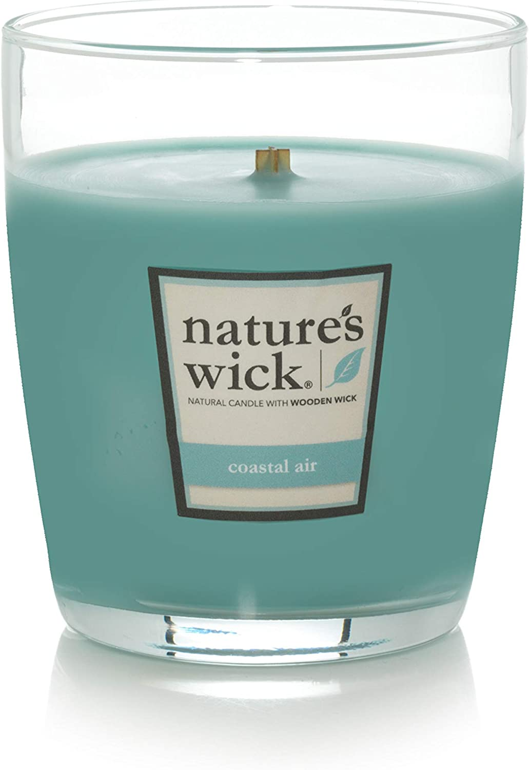 Natures Wick Scented 10 oz Jarred Natural Wood Wick Candle with up to 65 Hour Burn Time Crimson Cinnamon