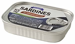 Pampa Sardines in Tomato Sauce 7.5 Ounces. Imported from Thailand. (Pack of 12)