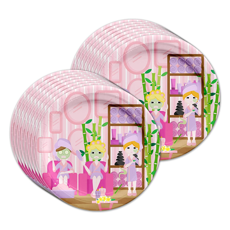 Spa Salon Supplies Birthday Party Supplies Salon Set Plates Napkins Cups Tableware Kit for 16 84e341