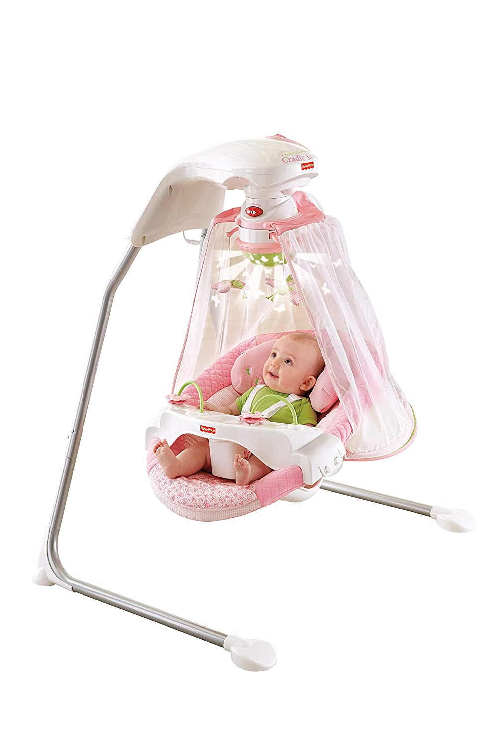 Fisher Price Papasan Cradle Swing Butterfly Garden Amazon In Baby
