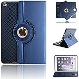 TGK® TPU Detachable 360 Degree Rotating Smart Case Cover Stand (Auto Sleep/Wake Function) for Apple iPad 2, iPad 3, iPad 4 (A1458, A1459, A1460, A1416, A1430, A1403, A1395, A1396, A1397) - Dark Blue