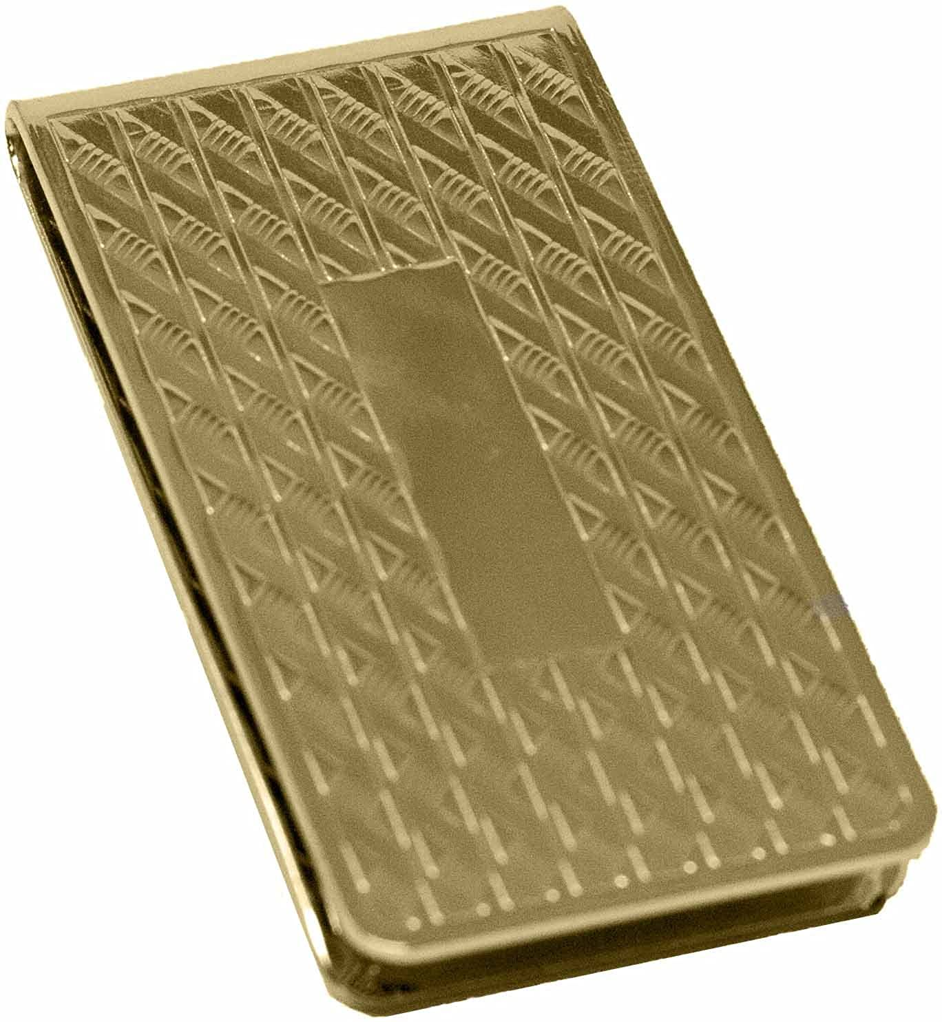 gold Honeycomb Pattern Stainless Steel Boxed Money Clip