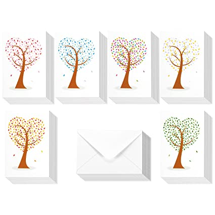 Amazon 48 pack all occasion assorted blank note cards greeting 48 pack all occasion assorted blank note cards greeting cards bulk box set 6 colorful m4hsunfo